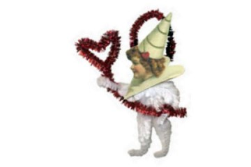 Old Fashioned Chenille Ornament - Valentine Girl with White Legs