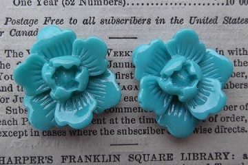 20mm Blue Resin Flower Component