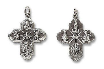 Four-Way Cross Medal 1-1/4 inch