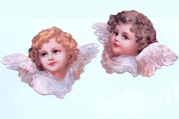 Set of 2 Die-Cut Angel Tags