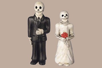 Day of the Dead Figures - Large Ceramic Wedding Couple