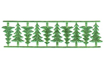 Shiny Green Pine Trees Dresdens - Package of 10