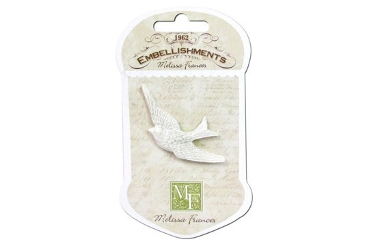 Gorgeous Shabby Chic Flying Bird Embellishment