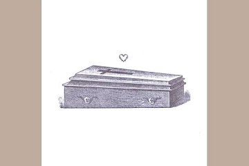 Letterpress Fine Greeting Card: I love you to death