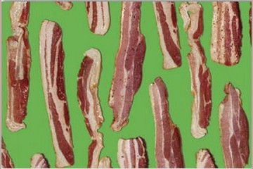 2 sheets of Kitschy Bacon Giftwrap Paper