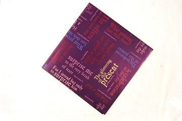 Two Folded Sheets of Vintage Shakespearean Quotes Giftwrap