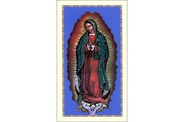 Our Lady of Guadalupe Holy Cards in Spanish with <i>La Magnifica</i> - Package of 5