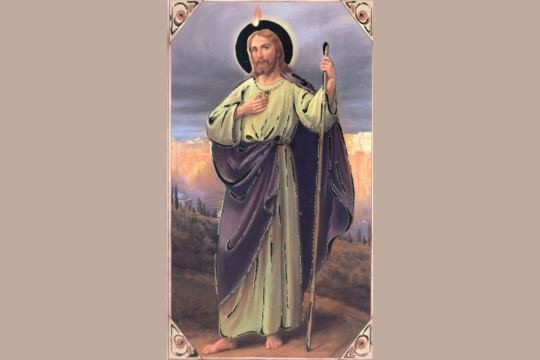 Gilded St Jude Holy Cards - Patron Saint of Impossible Causes - Package of 5
