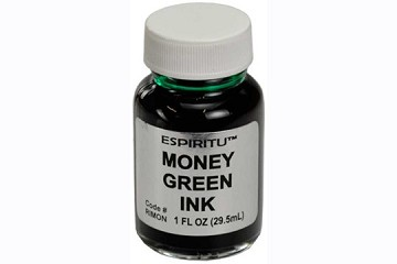 One Ounce of Money Green Ink