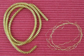 Gold-Plated Medium Krausbouillion Crinkle Wire by the Strand