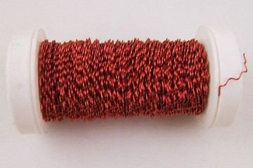 25-Yard Spool of Red Zig Zag Krausbouillion 28 Gauge Crinkle Wire