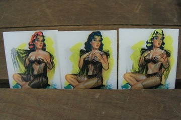 Vintage (Winky) Lenticular (3D) Vari-Vue 1950s Negligee Stripper<br>Now Choose Hair Color!