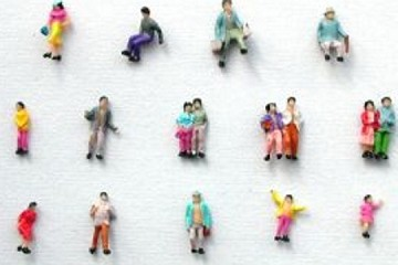 Package of 10 SMALL Little People to Help with your Projects