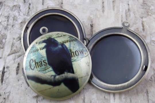 Lovely Crow Locket