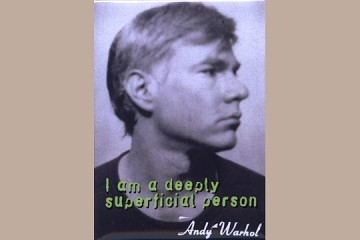 Andy Warhol Superficial Self-Portrait Magnet