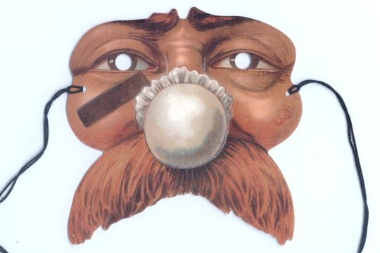 The Flu - Edwardian Paper Mask