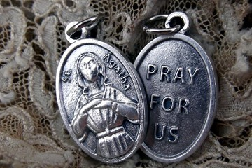 Saint Agatha Medal - Patron Saint of and Protector from Breast Cancer