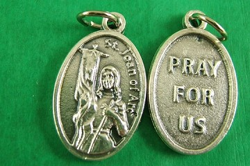 St. Joan of Arc Medal - Pewter