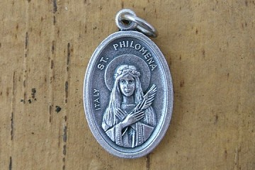 Saint Philomena Medal - Patron Saint of Youth and Infertility