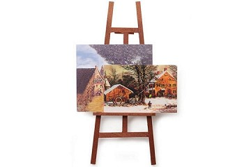 Mini Artist's Easel with 2 Paintings