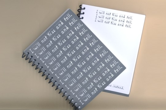 Spiral Notebook: I Will Not Kiss and Tell