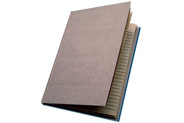 LARGE Smooth Covered Kraft Notebook with Lined Pages (7 by 4-3/4 inches)