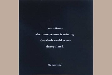 Note Card: sometimes when one person is missing...