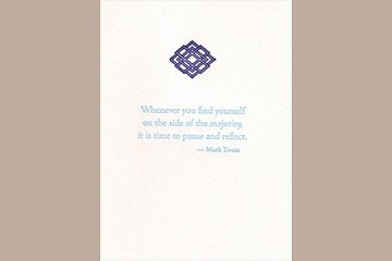 Letter Press Fine Note Card: Whenever you find yourself...
