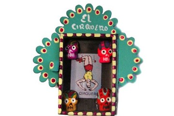 Exclusive Small Hand-Made Nicho - Painted and Embellished - El Cirquero