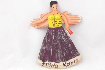 Handmade Folk Art Ornament - New Frida Kahlo Angel