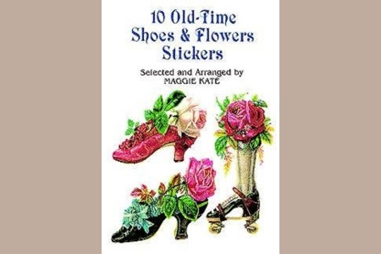 Old-Time Shoes and Flowers Stickers