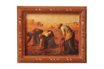 Mini Framed Jean-François Millet Painting: The Gleaners