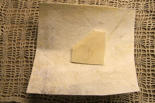 Traditional Cowhide Parchment - 6-Inch Square with Practice Swatch