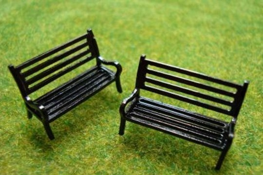 Little Black Park Bench for your Little People