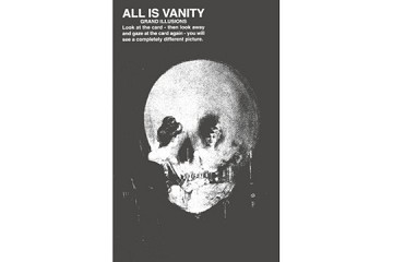 All is Vanity Illusion Postcard