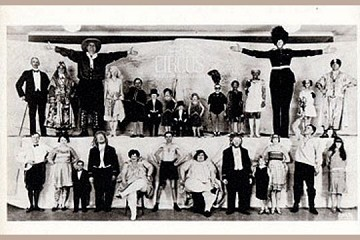 Art Postcard - Circus Sideshow People, New York City, c 1930
