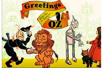 Art Postcard book of 16 Postcards: Greetings from the Land of Oz