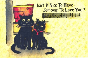 Art Postcard - Isn't it Nice to Have Someone to Love You.