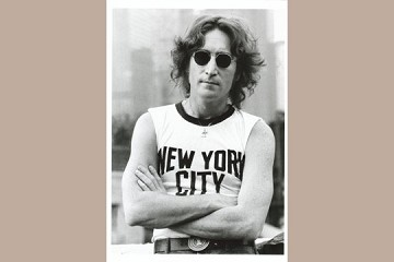 Art Postcard - John Lennon, New York City, 1974
