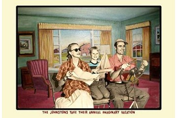 Art Postcard - The Johnsons Take their Annual Imaginary Vacation
