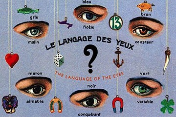 Art Postcard - Le Langage des Yeux(The Language of the Eyes