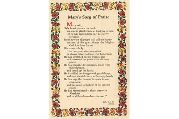 Vintage Postcard: Mary's Song of Praise