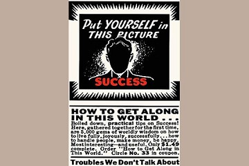Art Postcard - Put Yourself in this Picture - SUCCESS