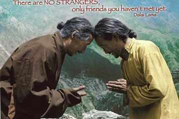 Art Postcard - There are no strangers...
