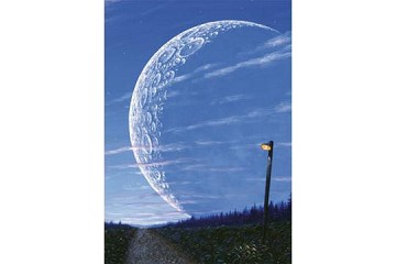 Art Postcard - The Road to the Moon