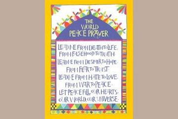 Art Postcard - The World Peace Prayer