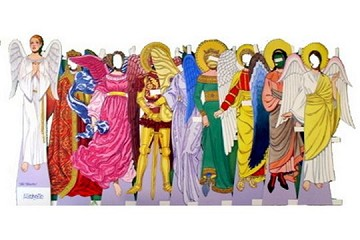 New Old Stock Die-Cut Angels through the Ages Michelle Paper Doll Set