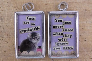 Reversible Cats are So Unpredictable Pendant