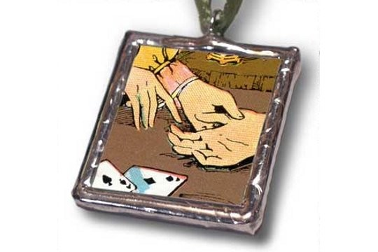 Gypsy's Fortune Telling Hands Pendant by Rebecca DeVries