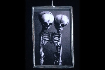 Handmade Twin Skeletons Pendant
